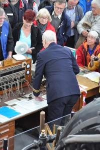 Lars Kålland preparing for the transmission