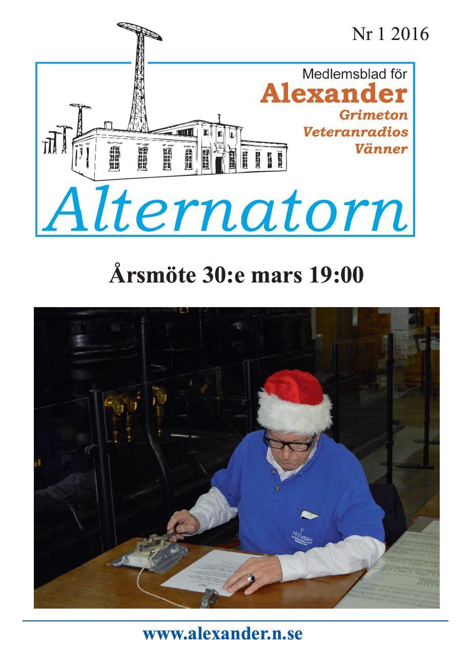Alternatorn nr 1, 2016