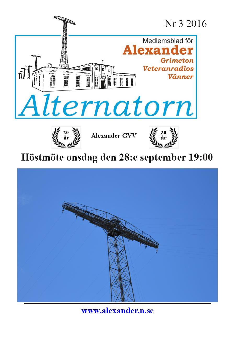 Alternatorn nr 3, 2016
