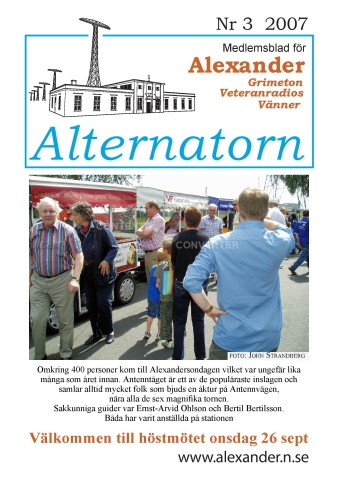 Alternatorn nr 3, 2007