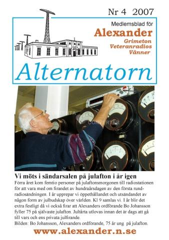 Alternatorn nr 4, 2007