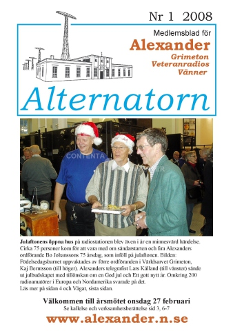 Alternatorn nr 1, 2008