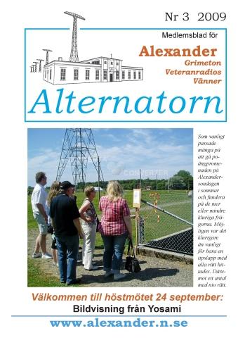 Alternatorn nr 3, 2009