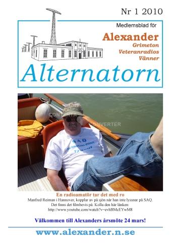 Alternatorn nr 1, 2010