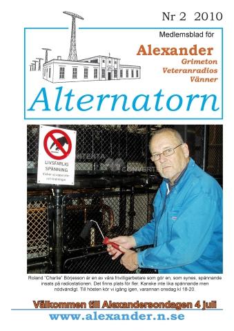 Alternatorn nr 2, 2010