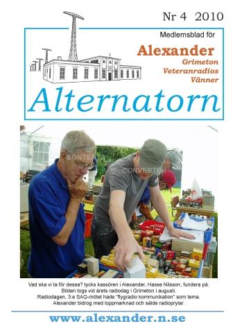 Alternatorn nr 4, 2010