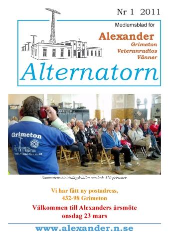 Alternatorn nr 1, 2011