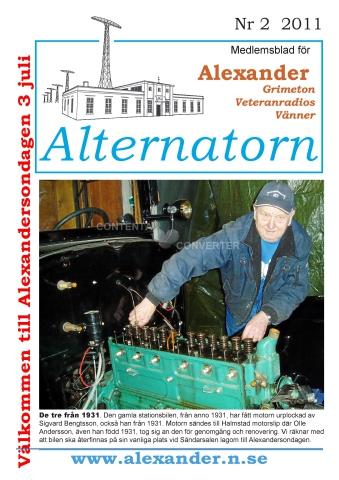 Alternatorn nr 2, 2011