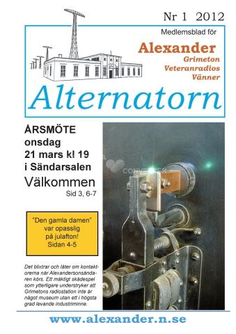 Alternatorn nr 1, 2012