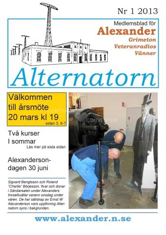Alternatorn nr 1, 2013