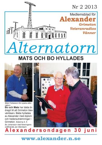 Alternatorn nr 2, 2013