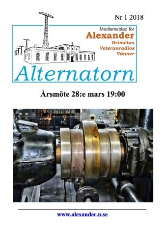 Alternatorn nr 1, 2018