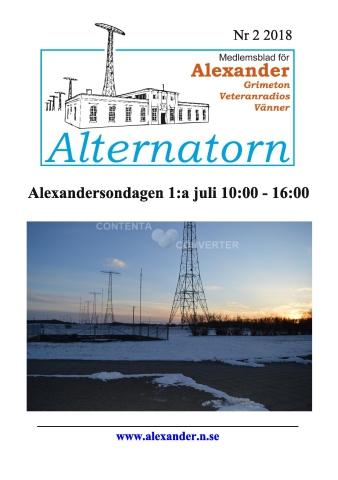 Alternatorn nr 2, 2018